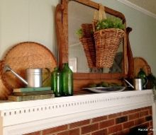 simple spring mantle, fireplaces mantels, repurposing upcycling, seasonal holiday decor