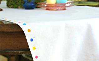 no sew table runner for easter pb knock off, crafts, easter decorations, how to, seasonal holiday decor