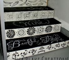 painted stairs why not, chalk paint, painting, stairs
