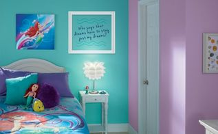 little mermaid bedroom makeover, bedroom ideas, paint colors, painting