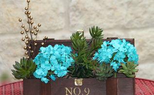 wine box succulent garden decor, crafts, flowers, gardening, home decor, repurposing upcycling, succulents