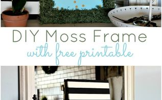 diy moss frame with free printable, crafts, how to, repurposing upcycling, seasonal holiday decor