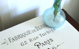 french paris box makeover with chalk paint graphics, chalk paint, crafts, repurposing upcycling