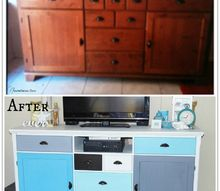 modern buffet makeover, painted furniture, repurposing upcycling