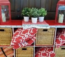diy outdoor storage console, outdoor furniture, outdoor living, painted furniture, repurposing upcycling, storage ideas