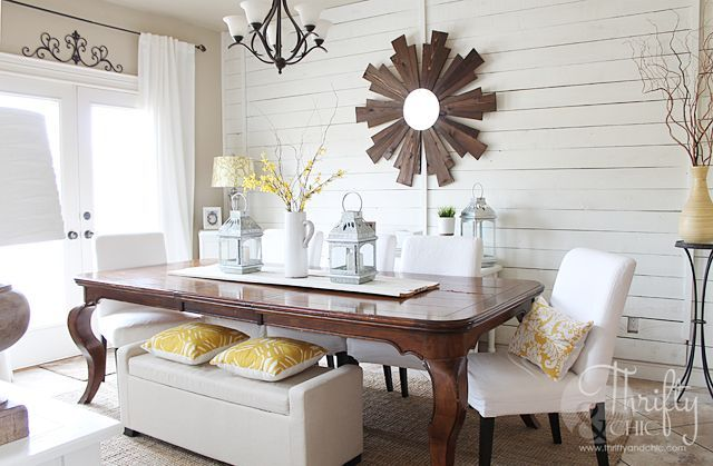 Spring Dining Room Before And After Ideas Wall Decor