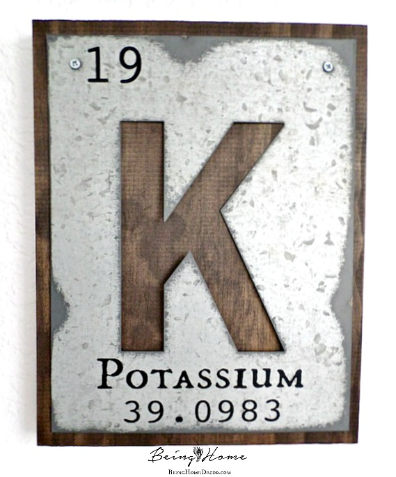 galvanized letters the periodic table crafts rustic furniture wall decor
