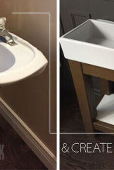 tutorial how to make a powder room vanity, bathroom ideas, diy, how to, woodworking projects