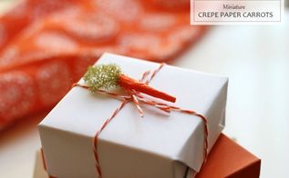 miniature crepe paper moss carrots, crafts, easter decorations, how to, seasonal holiday decor