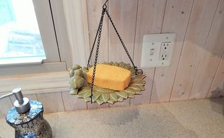 birdfeeder to kitchen sponge holder, kitchen design, repurposing upcycling