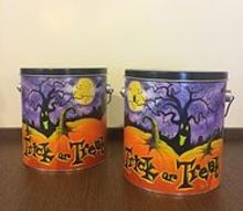 q help turning these popcorn tins into cute storage, crafts, decoupage, how to, storage ideas