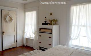 guest room makeover with beadboard wallpaper, bedroom ideas, flooring, hardwood floors, wall decor