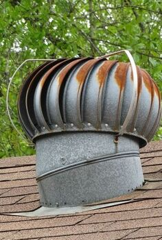 repurposed roof wind turbine, halloween decorations, repurposing upcycling, roofing, seasonal holiday decor