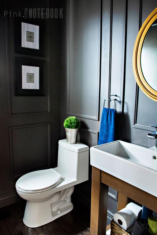 Reveal Dated Powder Room Gets A Moody Makeover Bathroom Ideas Small Bathroom Ideas