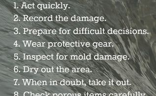 10 steps to successful indoor flooding cleanup, cleaning tips, how to