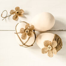 shabby chic plaster easter eggs, crafts, how to, seasonal holiday decor, shabby chic