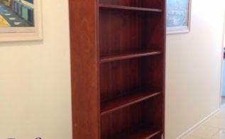 diy transforming an old scratched book case, painted furniture, shelving ideas