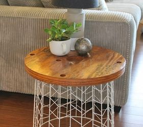 Diy Accent Table, Painted Furniture, Repurposing Upcycling