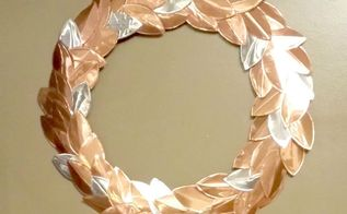 copper aluminium leaf wreath for beautiful kitchen decor, crafts, how to, wreaths