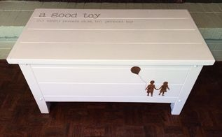 children s museum storybook soiree 2014 toy chest, painted furniture