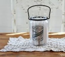 transform empty jars with easy image transfer on glass, bathroom ideas, crafts, repurposing upcycling