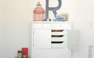 gold dipped white antique dresser makeover, painted furniture
