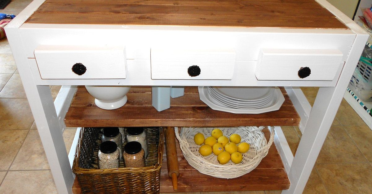 Diy 30 kitchen island made with 2x4s hometalk 30 kitchen island