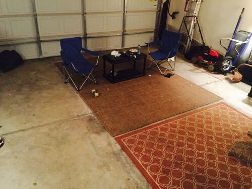 Man Cave Ideas For My Garage : Man cave floor hometalk