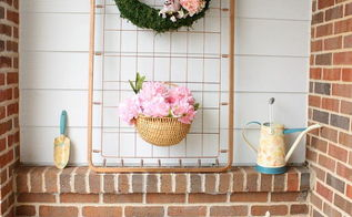 upcycled crib spring porch display, outdoor living, porches, repurposing upcycling, wreaths