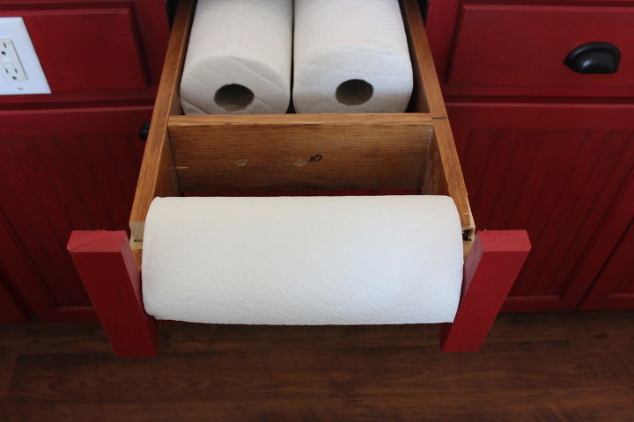 Under Counter Paper Towel Holder Kitchen Cabinets Kitchen Design Kitchen Island Organizing