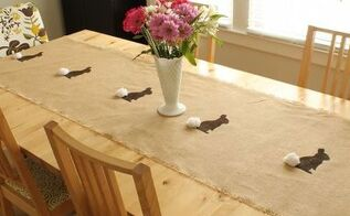 easy bunny table runner, crafts, dining room ideas, easter decorations, how to, repurposing upcycling, seasonal holiday decor