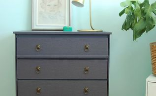 old dresser gets new life with textured paper, painted furniture, repurposing upcycling