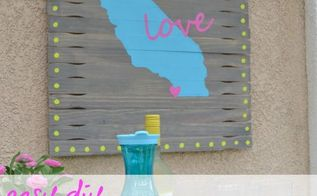 diy outdoor art from reclaimed paint sticks, crafts, how to, outdoor living, repurposing upcycling, wall decor