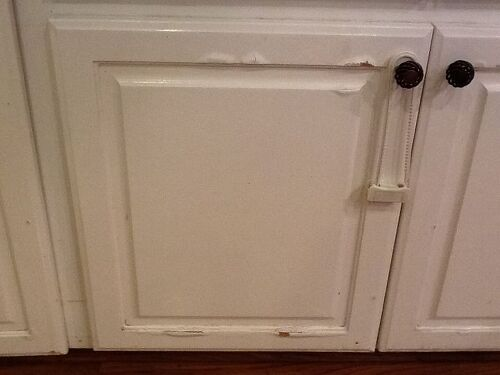 Water Damage On Press Wood Kitchen Cabinets Hometalk