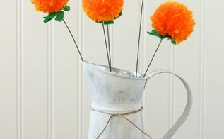 anthropologie knock off pomdelion bouquet, crafts, flowers, how to, repurposing upcycling