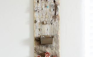 barn wood jewelry holder, how to, organizing, repurposing upcycling, wall decor