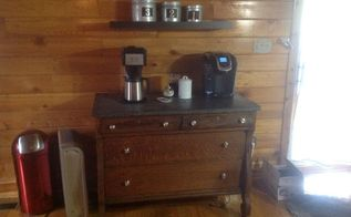 upcycled chest to coffee station, kitchen design, painted furniture, repurposing upcycling