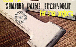 super fast shabby paint technique for small projects, chalk paint, crafts, painted furniture, painting, shabby chic