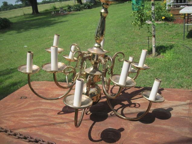 Solar chandelier hometalk for Solar light chandelier diy