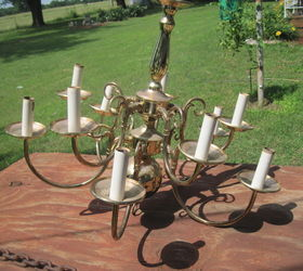 Solar Chandelier, Lighting, Outdoor Living, Painting, Repurposing Upcycling
