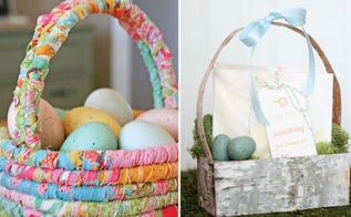green friendly easter baskets, crafts, easter decorations, seasonal holiday decor