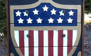 patriotic dresser ikea rast hack, how to, painted furniture, patriotic decor ideas, seasonal holiday decor