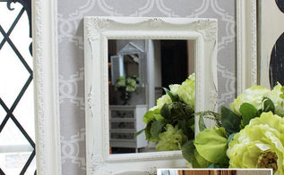 fabric framed mirror, crafts, repurposing upcycling, wall decor