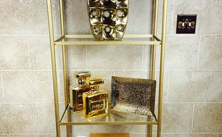 3 ways to styling an etagere, home decor, shelving ideas, Gold Accents
