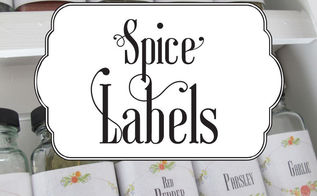 spice labels, crafts, how to, organizing, storage ideas