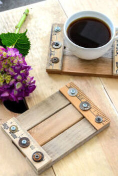 from scrap wood to the coolest coasters in minutes, crafts, living room ideas, repurposing upcycling, woodworking projects