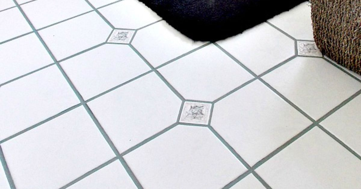 How to clean stained grout on tile floor