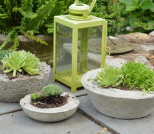 concrete planters, concrete masonry, container gardening, diy, gardening, how to, outdoor living
