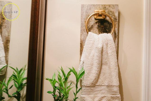 Easy Bathroom Wood Hand Towel Holder Hometalk