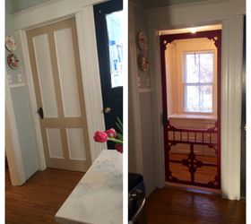 Marvelous Vintage Screen Door Given New Life, Closet, Doors, How To, Repurposing  Upcycling